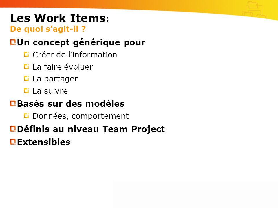 Les Work Items : De quoi sagit-il .