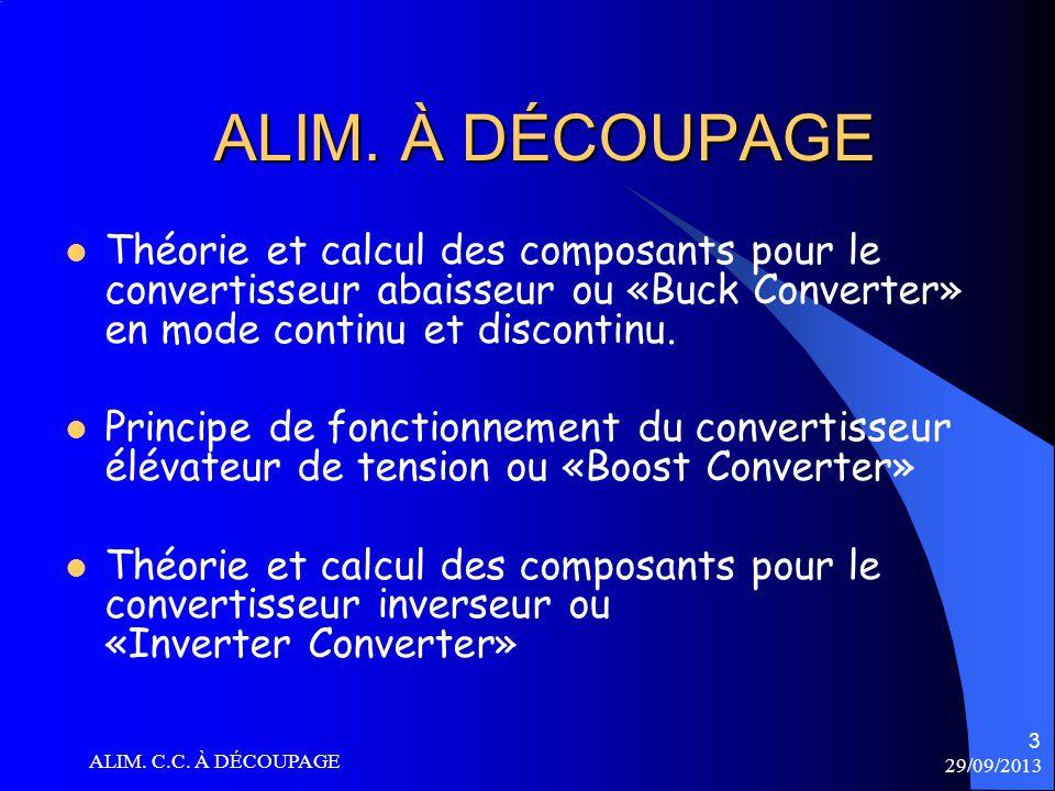 29/09/2013 ALIM.C.C. À DÉCOUPAGE 4 ALIM.