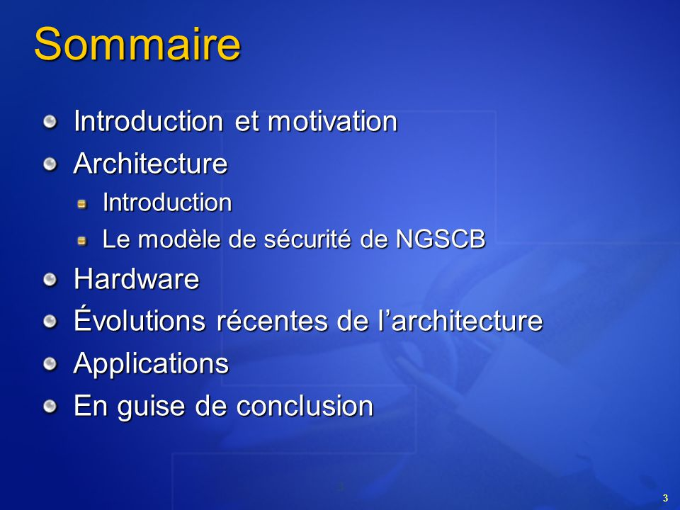 Introduction et motivation