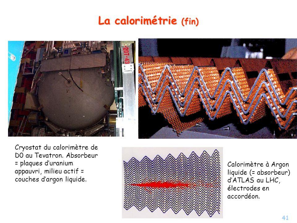 41 La calorimétrie (fin) Cryostat du calorimètre de D0 au Tevatron.