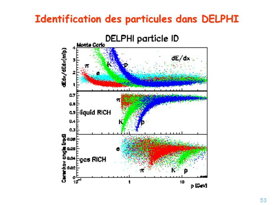 53 Identification des particules dans DELPHI