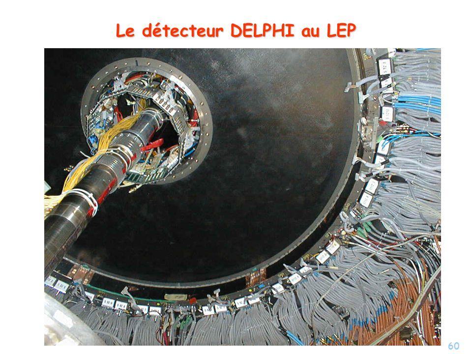 60 Le détecteur DELPHI au LEP