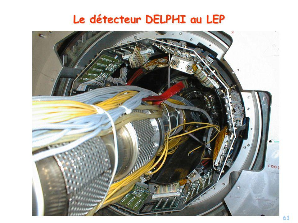61 Le détecteur DELPHI au LEP