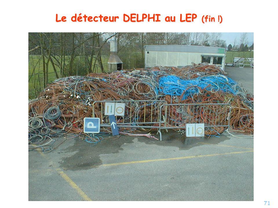 71 Le détecteur DELPHI au LEP (fin !)
