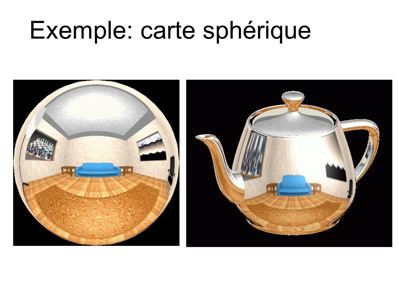 Exemple: carte sphérique