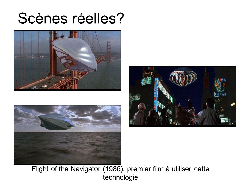 Scènes réelles Flight of the Navigator (1986), premier film à utiliser cette technologie