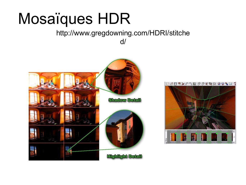 Mosaïques HDR http://www.gregdowning.com/HDRI/stitche d/