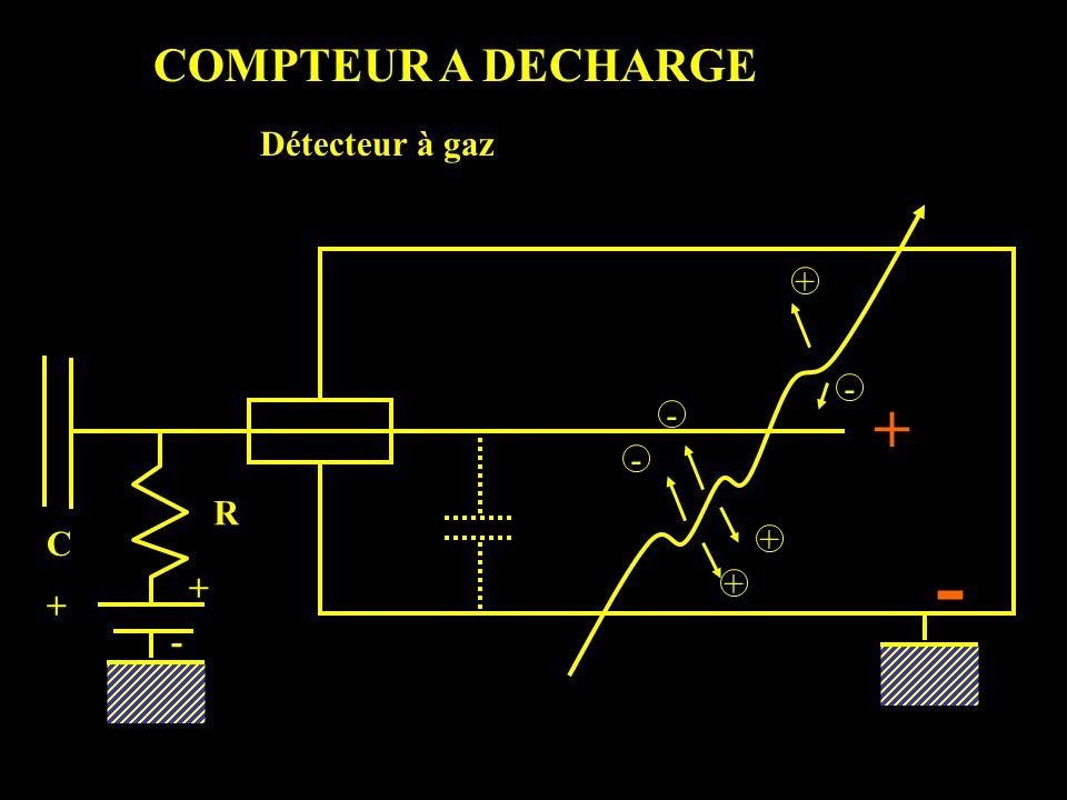 COMPTEUR A DECHARGE - - - + + + R C + + - Détecteur à gaz + -
