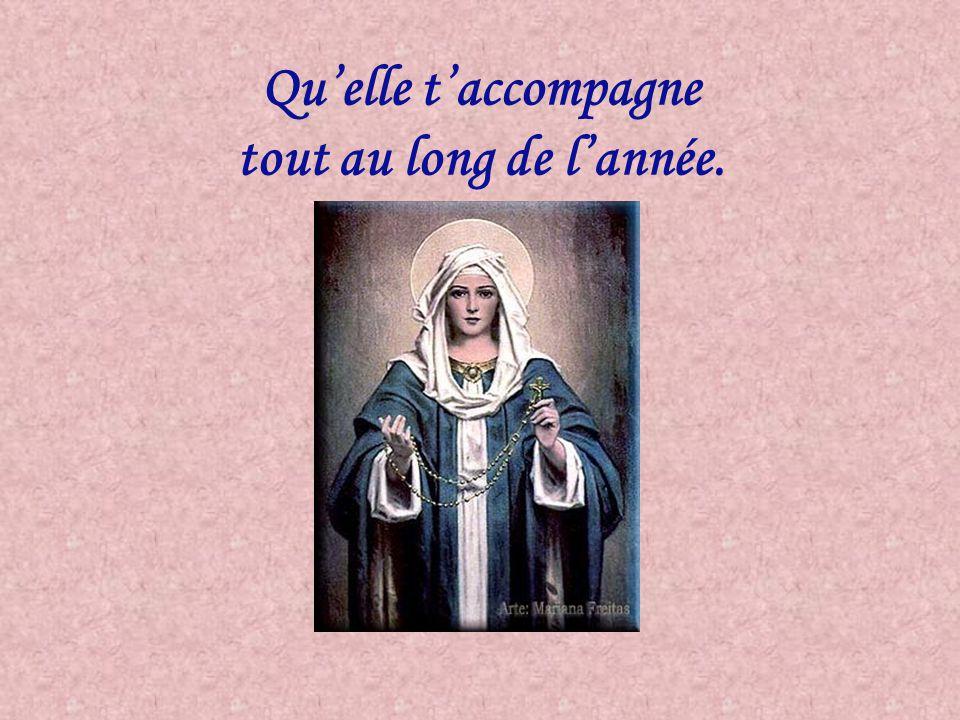 Elle est la voyageuse Ste Vierge et a besoin du temps pour visiter le monde entier. Merci de ton aide pour la réalisation de ce divin projet, qui est