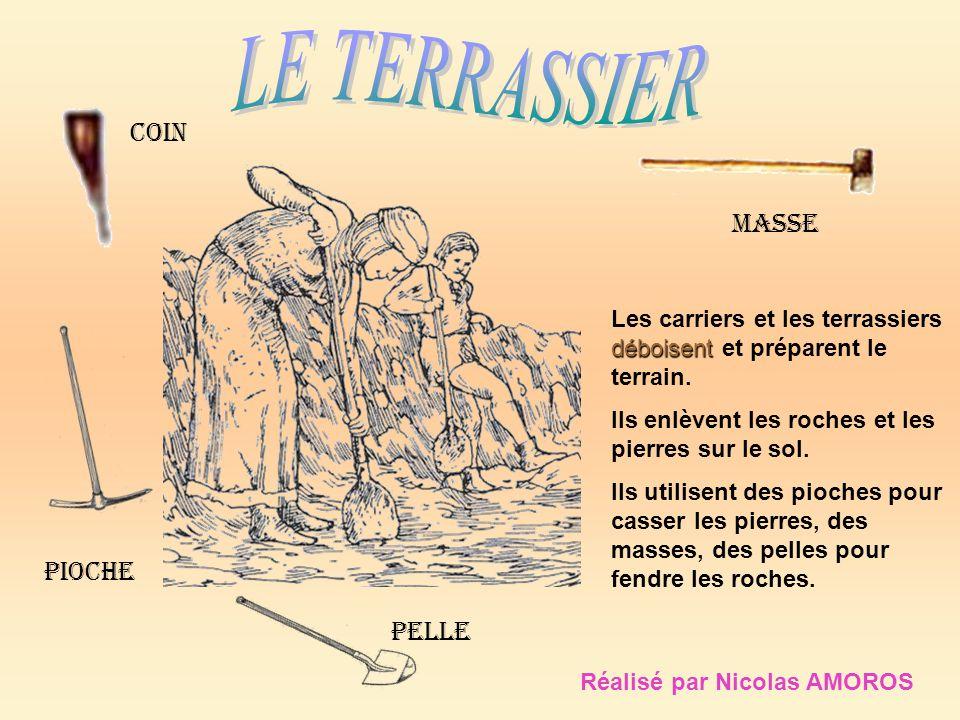 Pioche pelle masse coin Les carriers et les terrassiers déboisent et préparent le terrain. Ils enlèvent les roches et les pierres sur le sol. Ils util