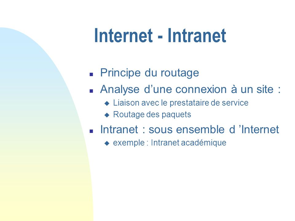 Ethernet n Naissance d Ethernet n Principe de la gestion de collision (CSMA/CD) n Influence sur le débit n Autre exemple : Token ring