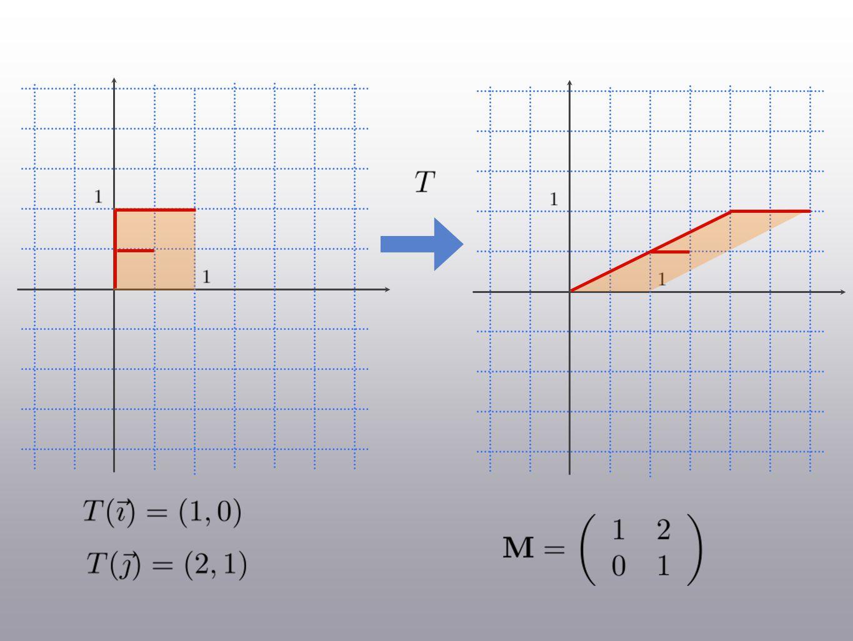 Définition: Un cisaillement dun facteur dans la direction de est une transformation linéaire telle que