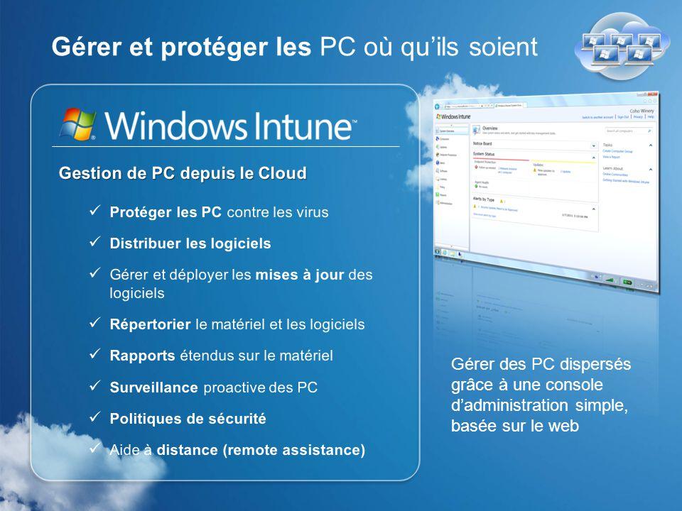 Windows Intune offre La meilleure expérience Windows Taux de satisfaction des clients Windows 7 : 94%* *Technologizer, March 2010
