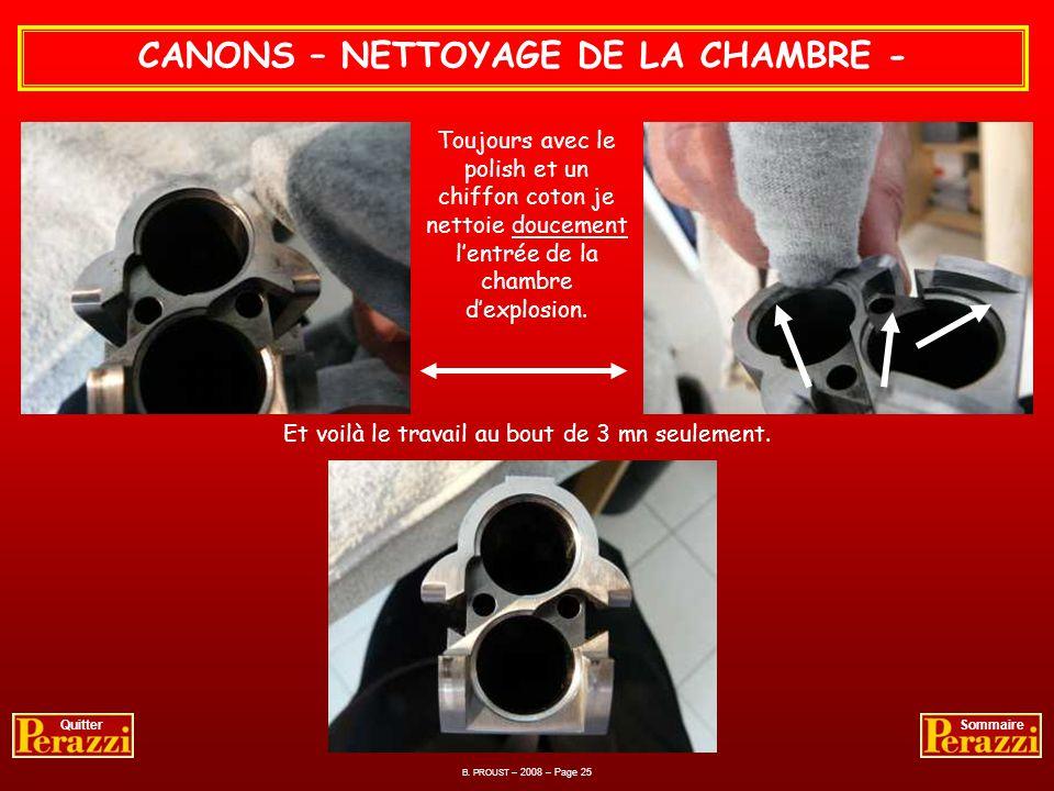 CANONS – NETTOYAGE DES ELEMENTS DU CANON - Avec un polish doux, spécial peinture auto métallisée trouvé en centre automobile je procède au nettoyage d