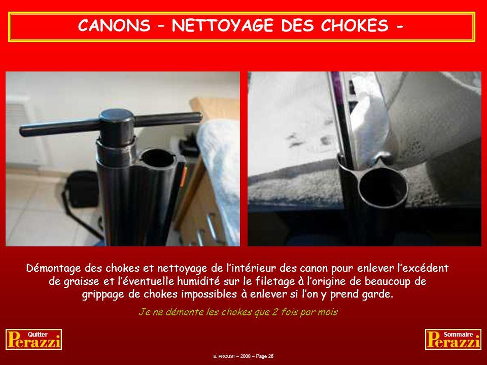 CANONS – NETTOYAGE DE LA CHAMBRE - Toujours avec le polish et un chiffon coton je nettoie doucement lentrée de la chambre dexplosion. Et voilà le trav