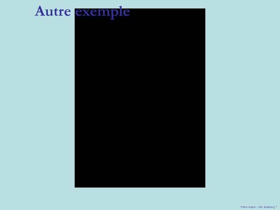 Autre exemple Franck Ardouin – IEN Strasbourg 7
