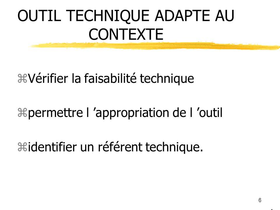 5 PÉDAGOGIE : vers l auto- direction des apprentissages zPositionnement Définition d un parcours de formation individualisé zformation à la fonction a