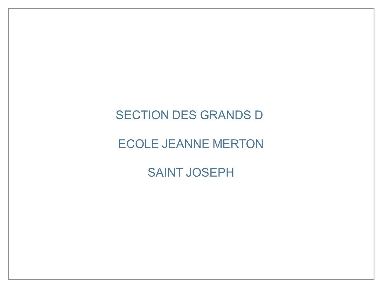 SECTION DES GRANDS D ECOLE JEANNE MERTON SAINT JOSEPH