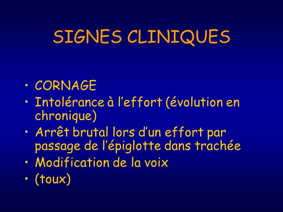 DIAGNOSTIC Signes cliniques Palpation Test dobstruction CaNa >0 Slap test Réflexe du bâton Endoscopie