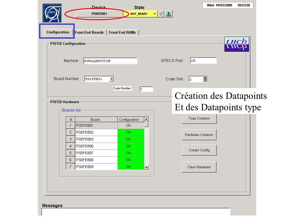 Création des Datapoints Et des Datapoints type