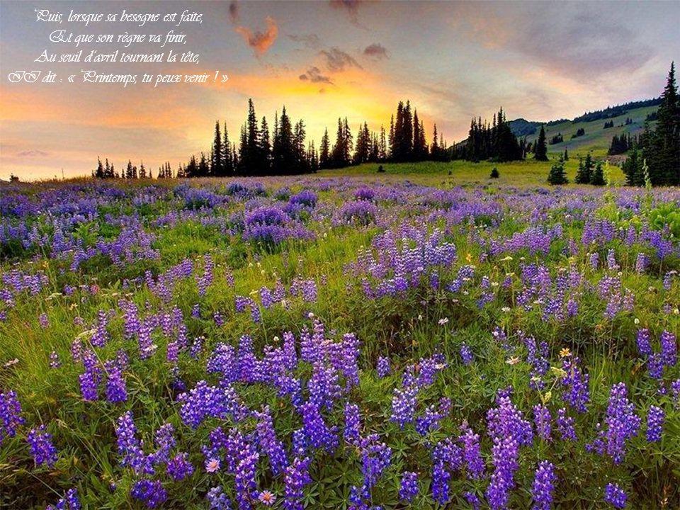 Sous lherbe, pour que tu la cueilles, II met la fraise au teint vermeil, Et te tresse un chapeau de feuilles Pour te garantir du soleil.