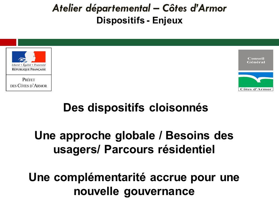 Atelier départemental – Côtes dArmor Constats / Discussion Des éléments de consensus Des réponses à construire
