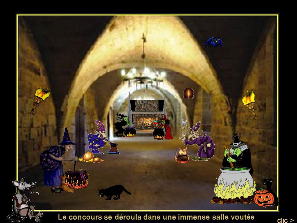 Les sorcières choisirent les ingrédients qui leur étaient nécessaires pour concocter leurs recettes secrètes se trouvait une salle pleine de denrées d