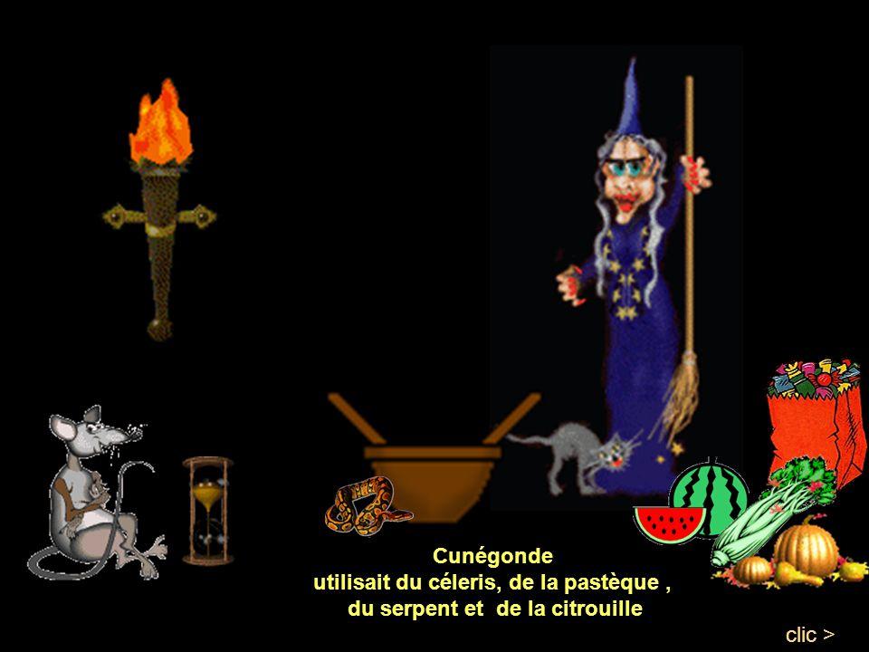 Chaque sorcière, sappliquait à faire la meilleure recette, chacune voulant gagner le concours. Gertrude, misa sur lail, la bave de crapaud et les caro