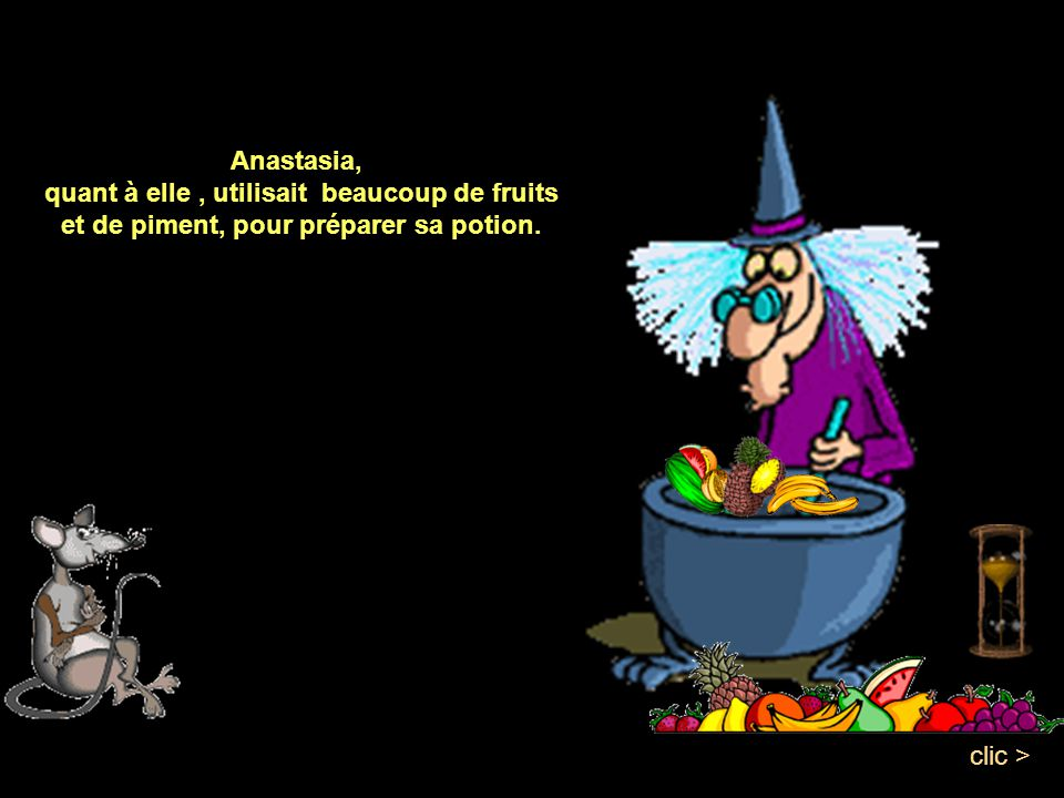 Cunégonde utilisait du céleris, de la pastèque, du serpent et de la citrouille clic >