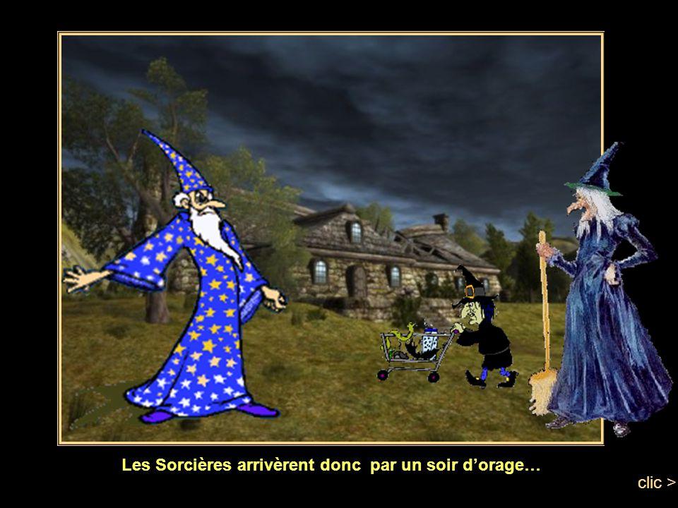 Il envoyèrent donc des invitations, aux meilleures sorcières, spécialistes en potions magiques, du pays. clic >