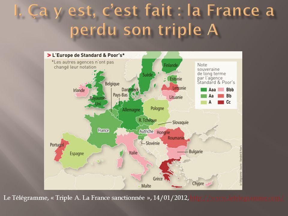 Le Télégramme, « Triple A. La France sanctionnée », 14/01/2012, http://www.letelegramme.com/http://www.letelegramme.com/