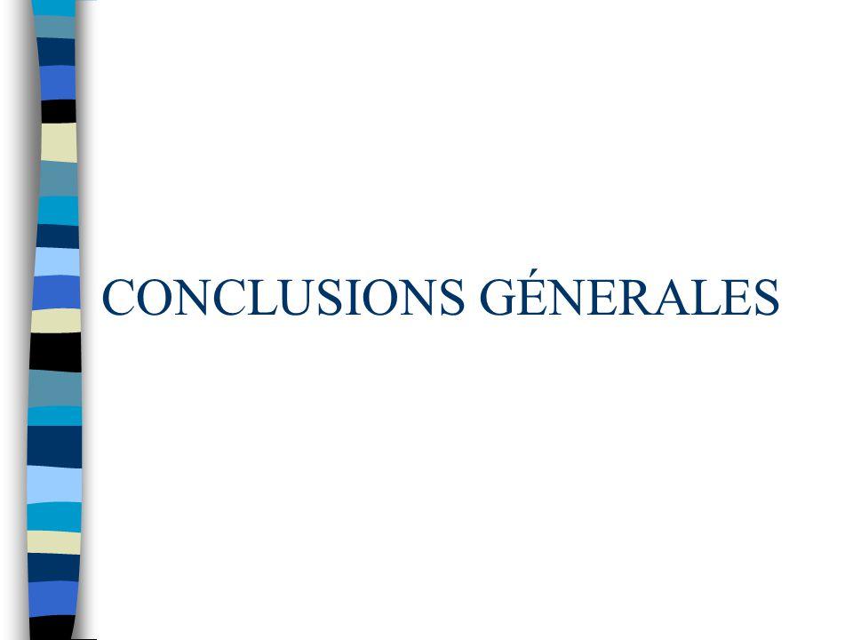 CONCLUSIONS GÉNERALES