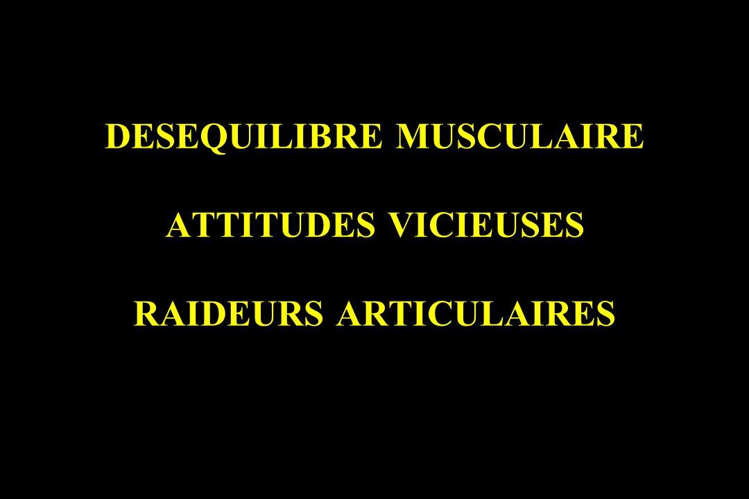 DESEQUILIBRE MUSCULAIRE ATTITUDES VICIEUSES RAIDEURS ARTICULAIRES