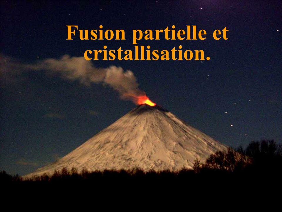 Fusion partielle et cristallisation.