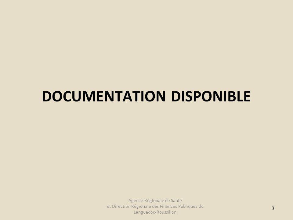 33 DOCUMENTATION DISPONIBLE Agence Régionale de Santé et Direction Régionale des Finances Publiques du Languedoc-Roussillon