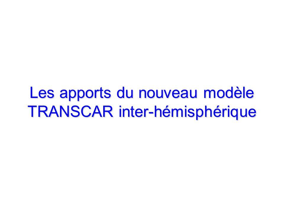 Les apports du nouveau modèle TRANSCAR inter-hémisphérique