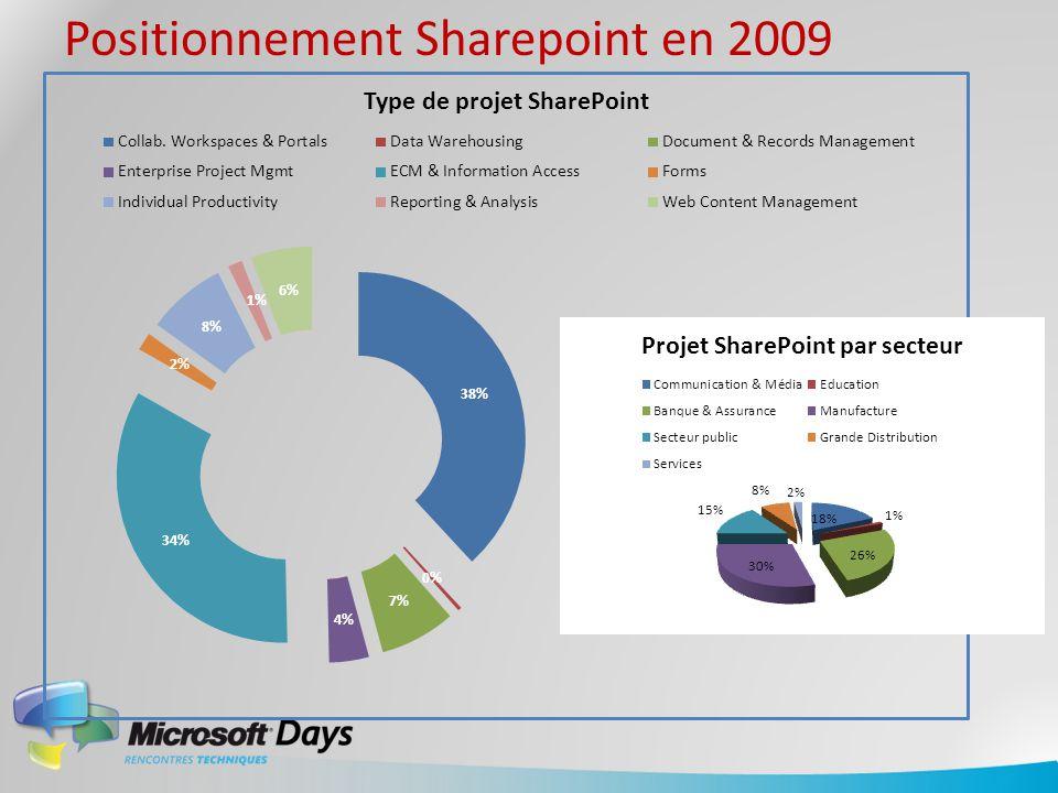 Positionnement Sharepoint en 2009