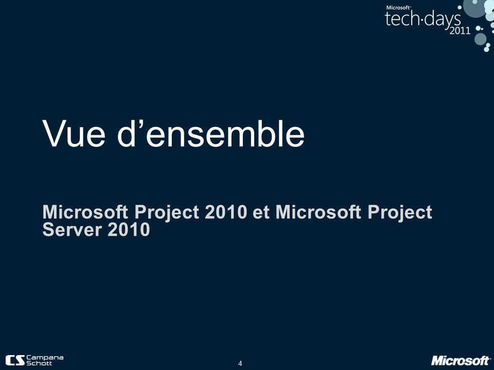 25 Démo Profiter de la solution Project Server 2010