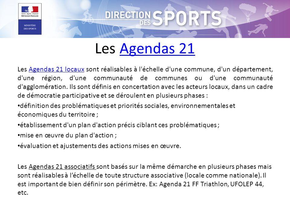 Les Agendas 21Agendas 21 Les Agendas 21 locaux sont réalisables à l échelle d une commune, d un département, d une région, d une communauté de communes ou d une communauté d agglomération.