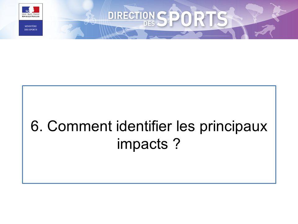 6. Comment identifier les principaux impacts ?
