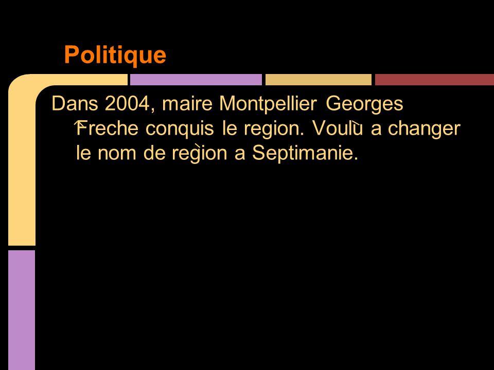 Dans 2004, maire Montpellier Georges Freche conquis le region.