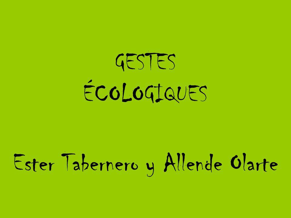 GESTES ÉCOLOGIQUES Ester Tabernero y Allende Olarte