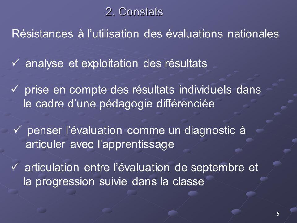 5 2. Constats analyse et exploitation des résultats prise en compte des résultats individuels dans le cadre dune pédagogie différenciée penser lévalua