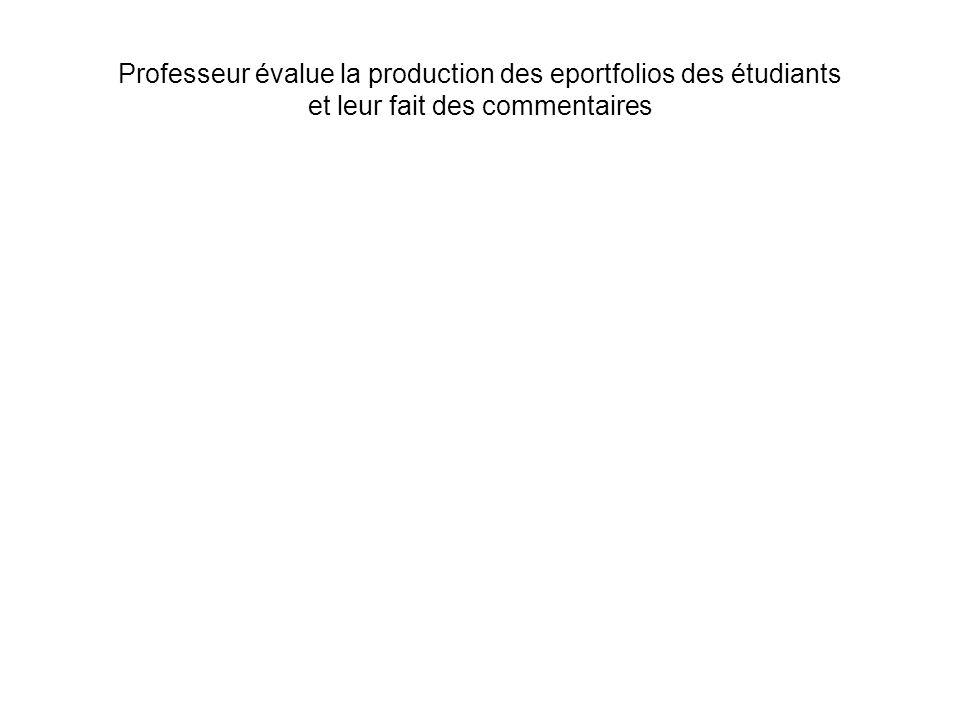 Professeur évalue la production des eportfolios des étudiants et leur fait des commentaires