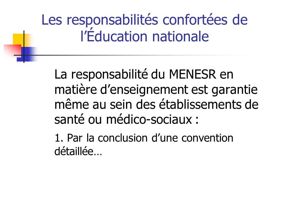 … Les responsabilités confortées de lÉducation nationale 2.