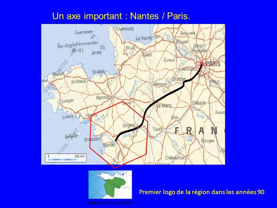Un axe important : Nantes / Paris. Premier logo de la région dans les années 90