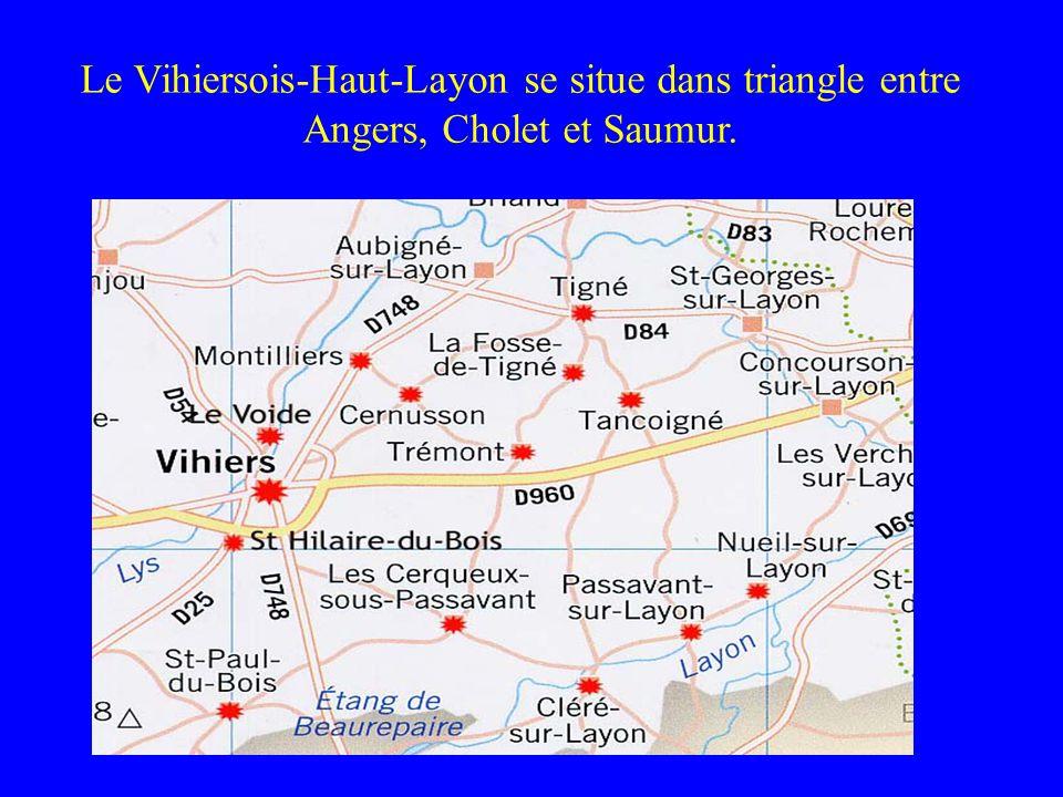 Le Vihiersois-Haut-Layon se situe dans triangle entre Angers, Cholet et Saumur.
