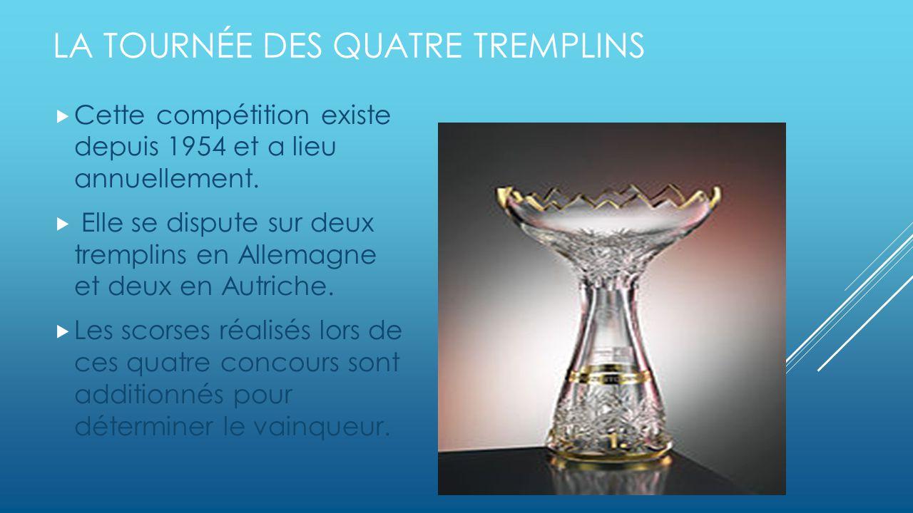 LA TOURNÉE DES QUATRE TREMPLINS Cette compétition existe depuis 1954 et a lieu annuellement.