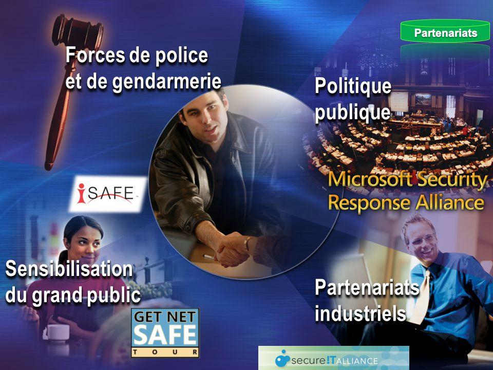 Forces de police et de gendarmerie Politique publique Partenariats industriels Sensibilisation du grand public