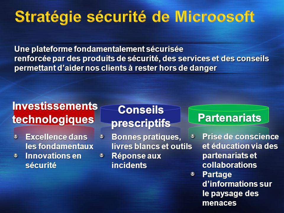 Une plateforme fondamentalement sécurisée renforcée par des produits de sécurité, des services et des conseils permettant daider nos clients à rester
